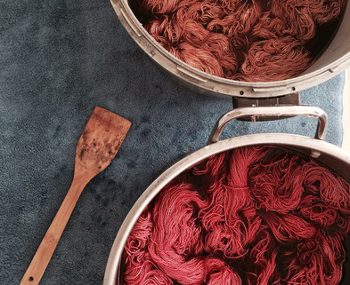 Medium natural dyeing with food waste