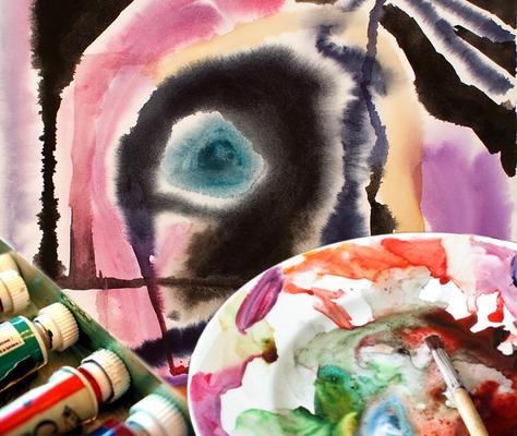 Carousel allure of watercolors