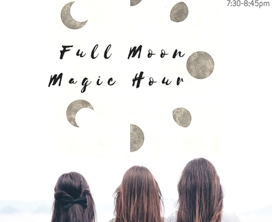 Medium full moonmagic hour