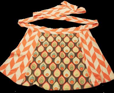 Medium waist apron