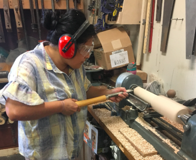Medium wood turning rolling pin dabble make chicago