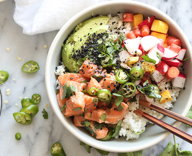 Medium pickeled poke bowl