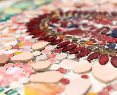 Medium building a mosaic
