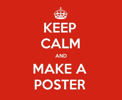 Medium keep calm and make a poster 1500 1500
