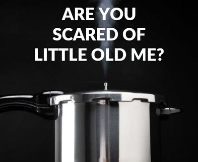 Medium scared pressure cooker