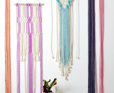 Medium amyzwikelstudio macramewallhangingworkshop coloredmacrame handdyedmacrame
