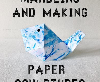 Medium argaman defiance workshop marbling and making paper sculptures