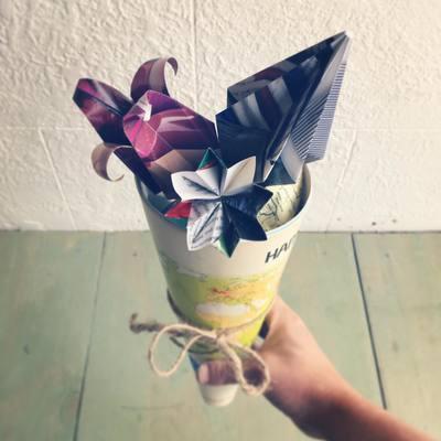 Carousel diy flower origami