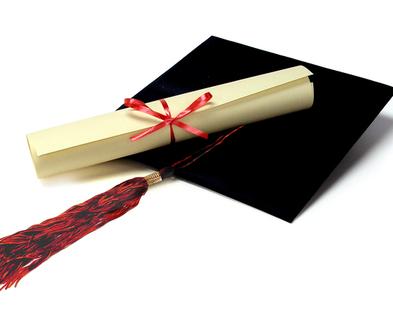 Medium gradutation cap and diploma