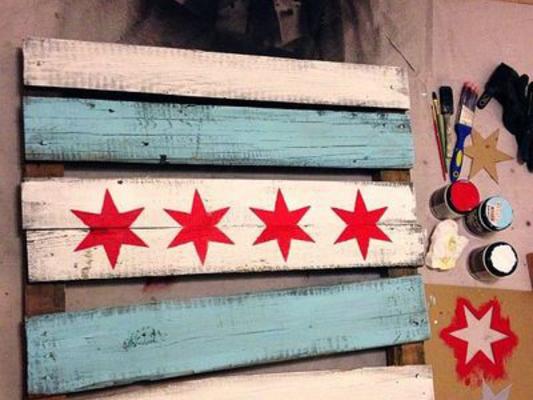 Carousel rustic chicago flag make chicago dabble