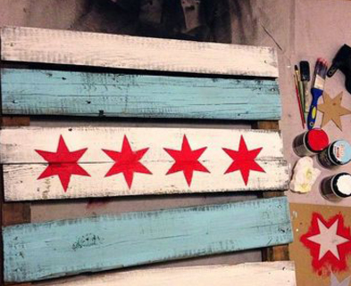 Medium rustic chicago flag make chicago dabble