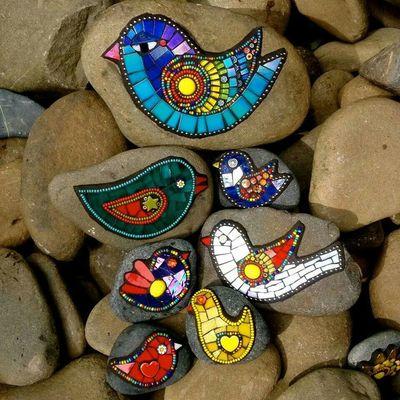 Carousel mosaic rocks