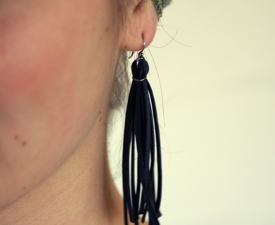 Medium bicycle innertube earrings