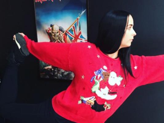Carousel ugly sweater yoga