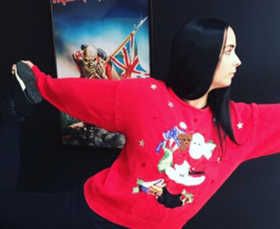 Medium ugly sweater yoga