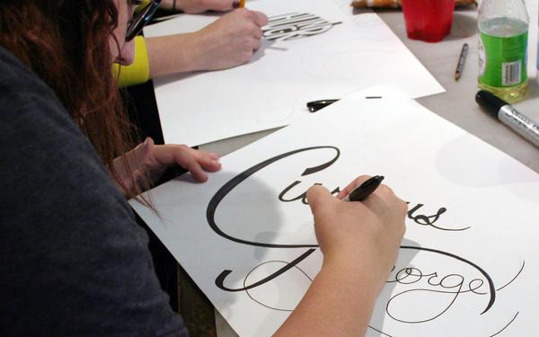 Carousel photo calligraphy 2