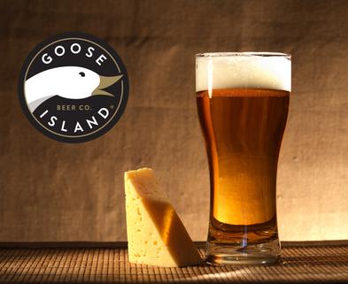 Medium goose island beer and cheese