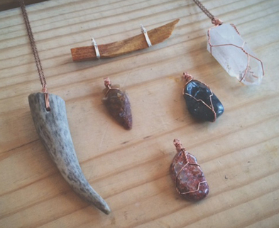 Medium wire wrap jewelry