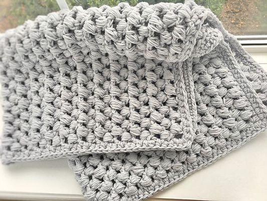 Carousel giant puff stitch crochet baby blanket free pattern 58abd4683df78c345bb798f1