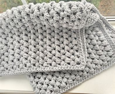 Medium giant puff stitch crochet baby blanket free pattern 58abd4683df78c345bb798f1