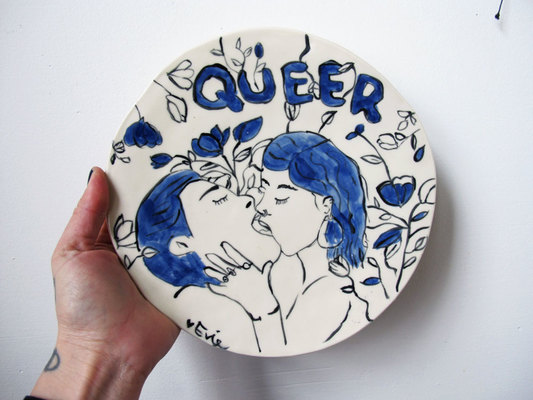 Painting Ceramic Plates with Erotic Imagery & Pottery Classes Chicago - Painting Ceramic Plates with Erotic ...