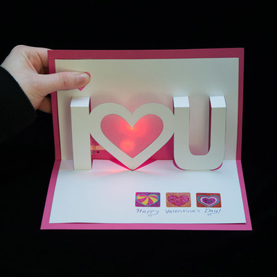 Carousel valentine pop up card tutorial 11