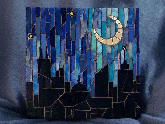 Carousel mosaic skyline