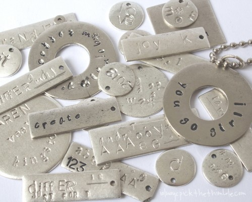 Jewelry making classes chicago metal stamping 101 dabble for Jewelry making classes salt lake city