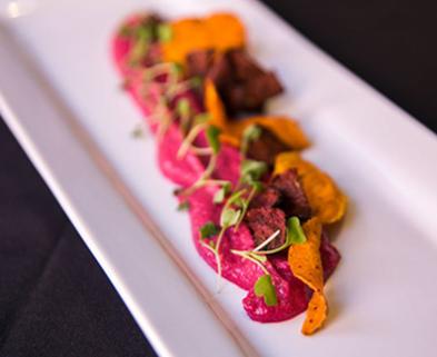 Medium beet hummus vegan dabble denver maggie