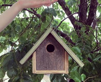 Medium 1 upcycled bird houses