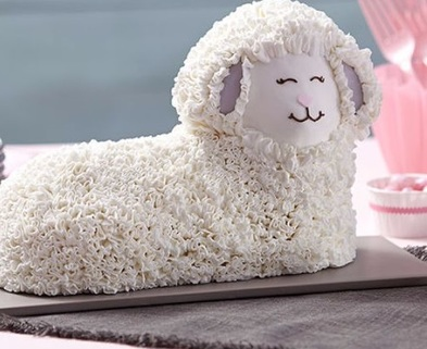 Medium easter fluffy 3 d lamb cake