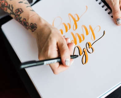 Medium brushlettering 4