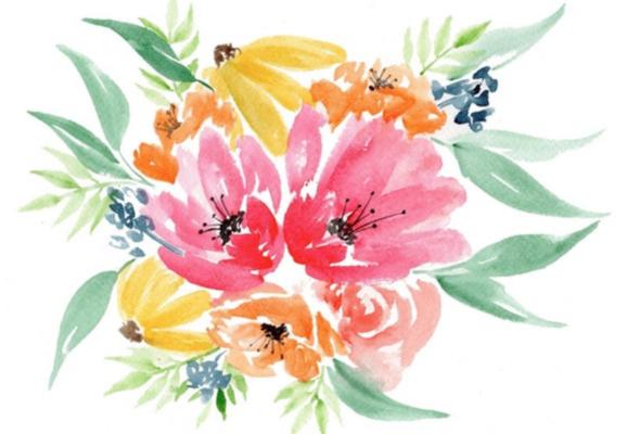 Carousel peggy dean watercolor florals