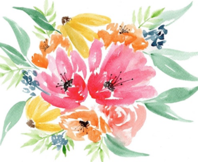 Medium peggy dean watercolor florals