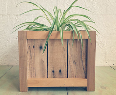 Medium perennial wood planter box dabble st. louis perennial