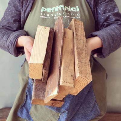 Carousel wood pile