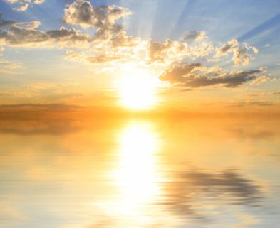 Medium sun off the water and godlike