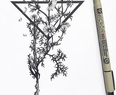 Medium geo floral