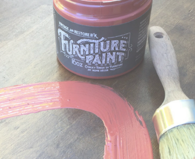 Medium red paint