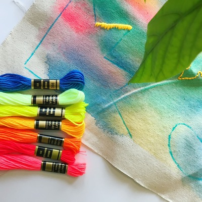 Hand Embroidery Classes Chicago Fluorescent Days Neon Nights An