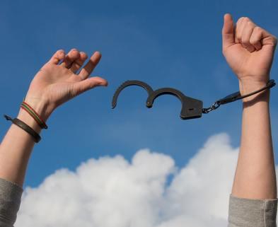 Medium freedom handcuffs hands 247851