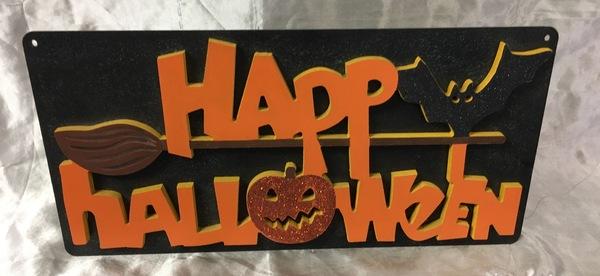 Carousel halloween plaque123