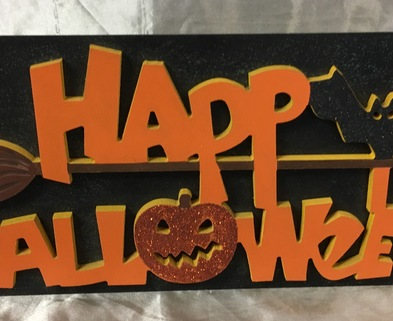 Medium halloween plaque123