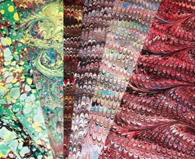 Medium singleton  megan marbled paper dabble