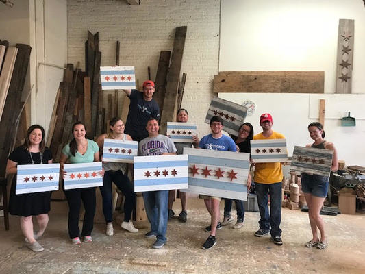 Woodworking Classes Chicago Make A Reclaimed Wood Chicago Flag Dabble
