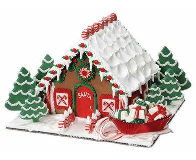 Medium santa calls it home gingerbread house lg