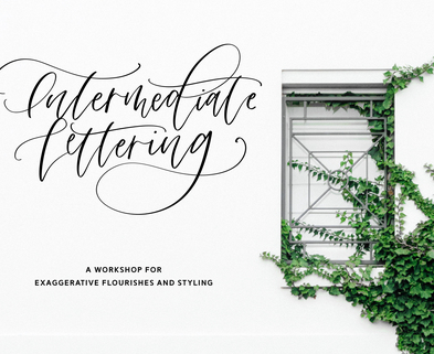 Medium workshop intermediatelettering