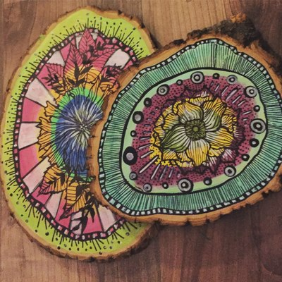 Carousel mandala trivet