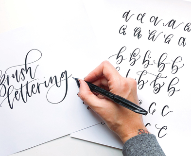 Medium cover brushlettering alphabetbasics