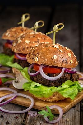 Carousel veggie burger